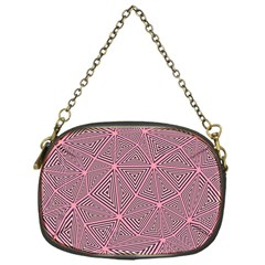 Purple Triangle Background Abstract Chain Purses (one Side)