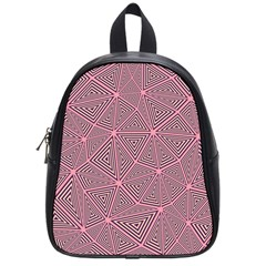 Purple Triangle Background Abstract School Bag (small)