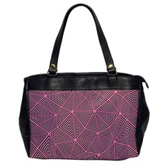 Purple Triangle Background Abstract Office Handbags