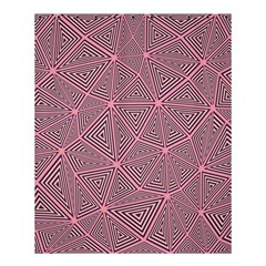Purple Triangle Background Abstract Shower Curtain 60  X 72  (medium)