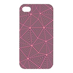 Purple Triangle Background Abstract Apple Iphone 4/4s Hardshell Case