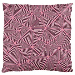 Purple Triangle Background Abstract Large Cushion Case (one Side)