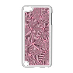 Purple Triangle Background Abstract Apple Ipod Touch 5 Case (white)
