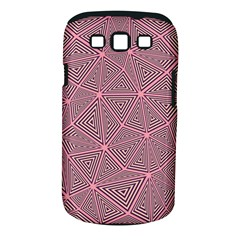 Purple Triangle Background Abstract Samsung Galaxy S Iii Classic Hardshell Case (pc+silicone)