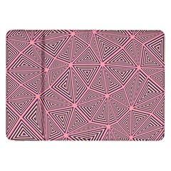 Purple Triangle Background Abstract Samsung Galaxy Tab 8 9  P7300 Flip Case