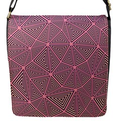 Purple Triangle Background Abstract Flap Messenger Bag (s)