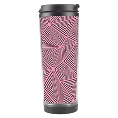 Purple Triangle Background Abstract Travel Tumbler