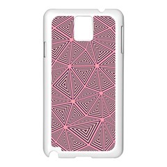 Purple Triangle Background Abstract Samsung Galaxy Note 3 N9005 Case (white)