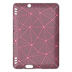 Purple Triangle Background Abstract Kindle Fire Hdx Hardshell Case