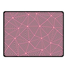 Purple Triangle Background Abstract Double Sided Fleece Blanket (small)