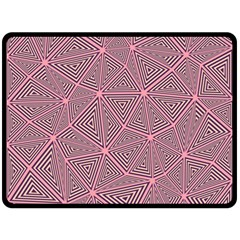 Purple Triangle Background Abstract Double Sided Fleece Blanket (large)