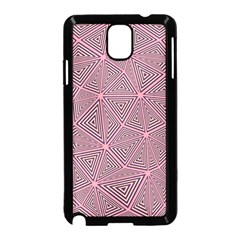 Purple Triangle Background Abstract Samsung Galaxy Note 3 Neo Hardshell Case (black)