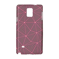 Purple Triangle Background Abstract Samsung Galaxy Note 4 Hardshell Case