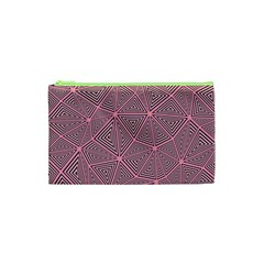 Purple Triangle Background Abstract Cosmetic Bag (xs)