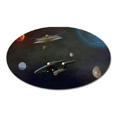 Space Travel Spaceship Space Oval Magnet