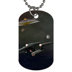 Space Travel Spaceship Space Dog Tag (one Side)