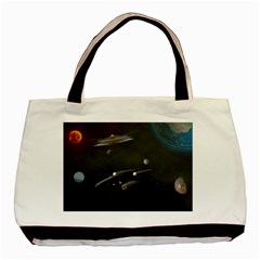 Space Travel Spaceship Space Basic Tote Bag