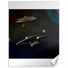 Space Travel Spaceship Space Canvas 12  X 16