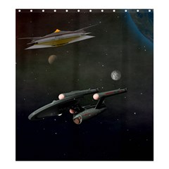Space Travel Spaceship Space Shower Curtain 66  X 72  (large)