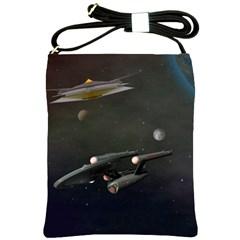 Space Travel Spaceship Space Shoulder Sling Bags