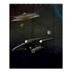 Space Travel Spaceship Space Shower Curtain 60  X 72  (medium)