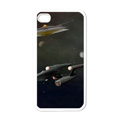 Space Travel Spaceship Space Apple Iphone 4 Case (white)