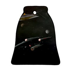 Space Travel Spaceship Space Bell Ornament (two Sides)