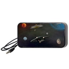 Space Travel Spaceship Space Portable Speaker