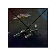Space Travel Spaceship Space Acrylic Tangram Puzzle (4  X 4 )