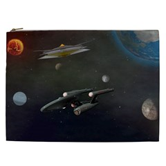 Space Travel Spaceship Space Cosmetic Bag (xxl)