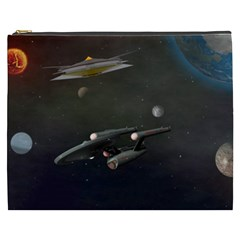 Space Travel Spaceship Space Cosmetic Bag (xxxl)