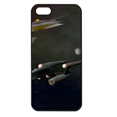 Space Travel Spaceship Space Apple Iphone 5 Seamless Case (black)