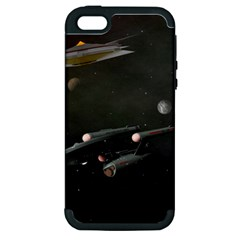Space Travel Spaceship Space Apple Iphone 5 Hardshell Case (pc+silicone)