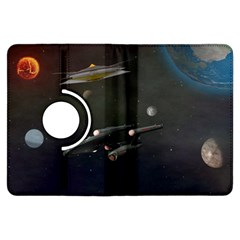 Space Travel Spaceship Space Kindle Fire Hdx Flip 360 Case