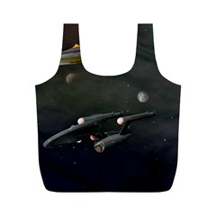 Space Travel Spaceship Space Full Print Recycle Bags (m)