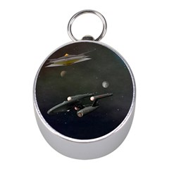 Space Travel Spaceship Space Mini Silver Compasses