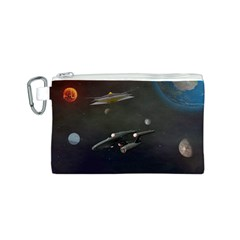 Space Travel Spaceship Space Canvas Cosmetic Bag (s)