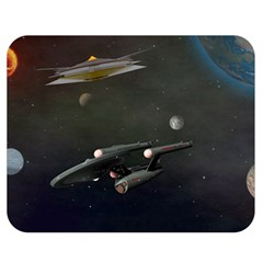 Space Travel Spaceship Space Double Sided Flano Blanket (medium)