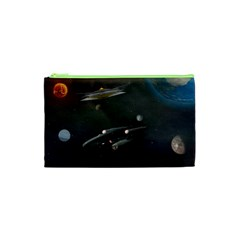 Space Travel Spaceship Space Cosmetic Bag (xs)