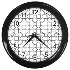 Square Line Stripe Pattern Wall Clocks (black)