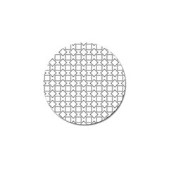 Square Line Stripe Pattern Golf Ball Marker (4 Pack)