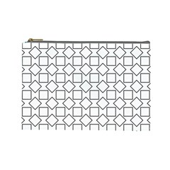 Square Line Stripe Pattern Cosmetic Bag (large)