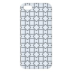 Square Line Stripe Pattern Apple Iphone 5 Premium Hardshell Case