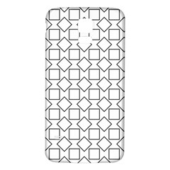 Square Line Stripe Pattern Samsung Galaxy S5 Back Case (white)