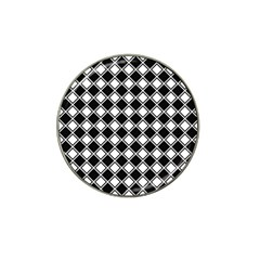 Square Diagonal Pattern Seamless Hat Clip Ball Marker (4 Pack)