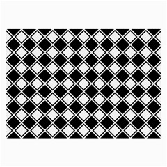 Square Diagonal Pattern Seamless Large Glasses Cloth