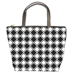 Square Diagonal Pattern Seamless Bucket Bags