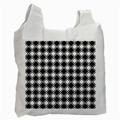 Square Diagonal Pattern Seamless Recycle Bag (two Side)