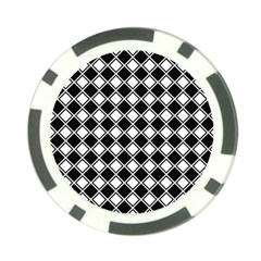 Square Diagonal Pattern Seamless Poker Chip Card Guard (10 Pack)
