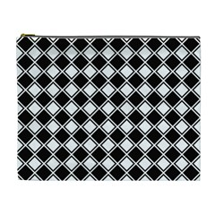 Square Diagonal Pattern Seamless Cosmetic Bag (xl)